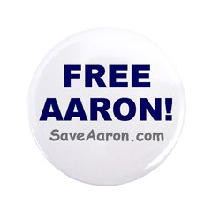 """FREE AARON!"" 3.5"" Button"