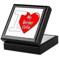 I Love My Border Collie Keepsake Box