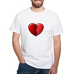 Broken Heart White T-Shirt