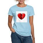Broken Heart Women's Pink T-Shirt