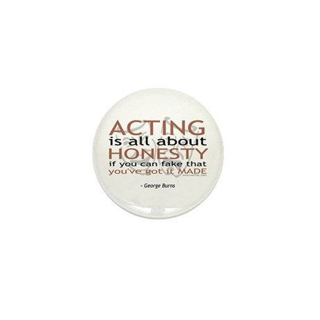 George Burns Acting Quote Mini Button (100 pack)