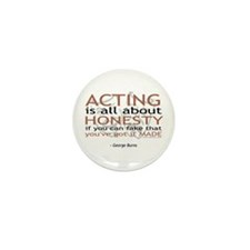 George Burns Acting Quote Mini Button (10 pack)