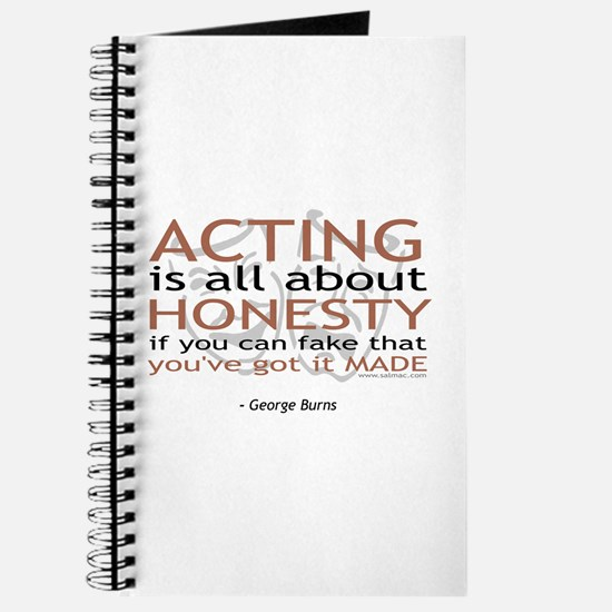 George Burns Acting Quote Journal