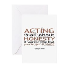 George Burns Acting Quote Greeting Cards (Pk of 10
