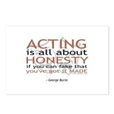 George Burns Acting Quote Postcards (Package of 8)