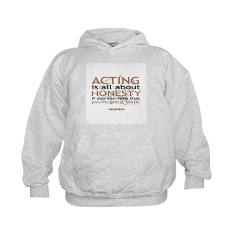 George Burns Acting Quote Kids Hoodie