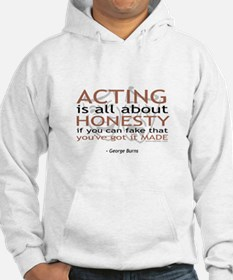 George Burns Acting Quote Jumper Hoody