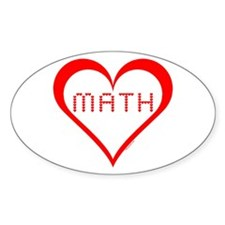Math Hearts Decal
