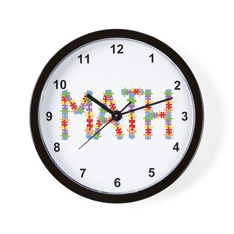 Math Jigsaw Wall Clock