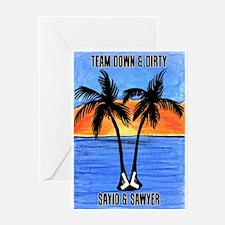LOST Team Dirty Sayid Sawyer Greeting Card