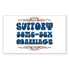 Some-Sex Marriage Decal