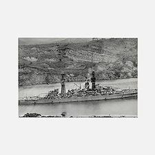 USS Arizona Ship's Image Rectangle Magnet