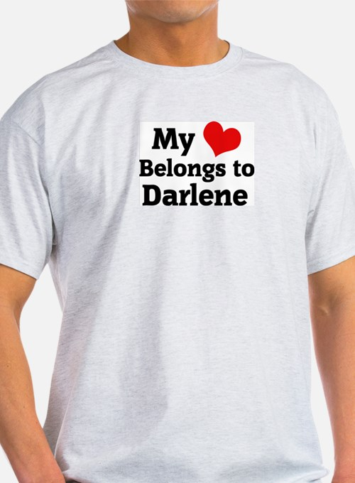 My Heart: Darlene Ash Grey T-Shirt