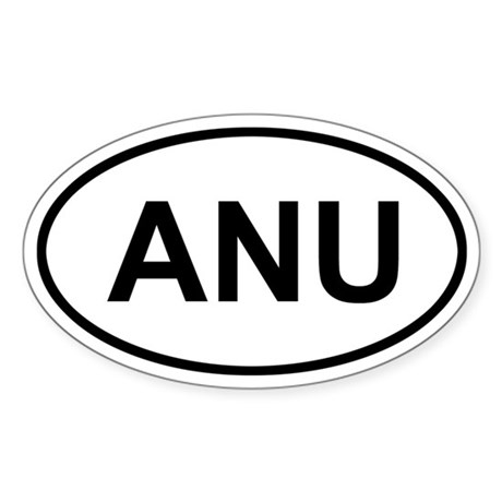 Antigua and Barbuda ANU Sticker (Oval)