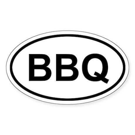 Antigua and Barbuda BBQ Sticker (Oval)