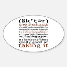Actor (ak'ter) Meaning Oval Decal