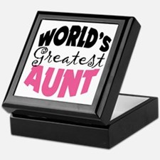 World's Greatest Aunt Keepsake Box