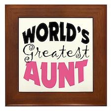 World's Greatest Aunt Framed Tile