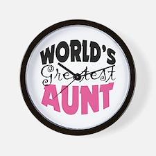 World's Greatest Aunt Wall Clock