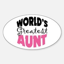 World's Greatest Aunt Sticker (Oval)