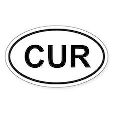 Curacao CUR Sticker (Oval)