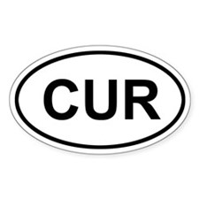 Curacao CUR Stickers