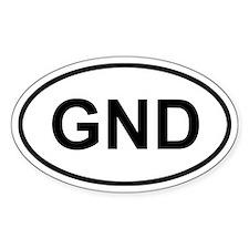 Grenada GND Sticker (Oval)