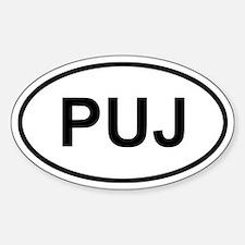 Punta Cana Dominican Republic PUJ Bumper Stickers