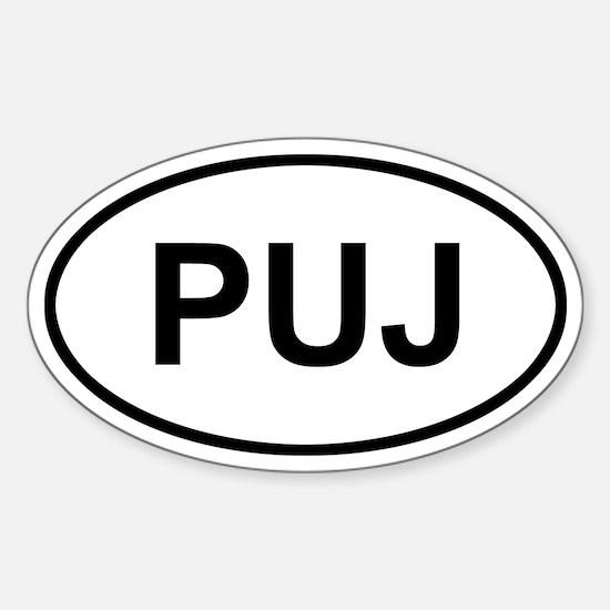 Punta Cana Dominican Republic PUJ Sticker (Oval)