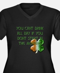 You Can't Drink All Day Women's Plus Size V-Neck D