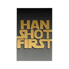Han Shot First Rectangle Magnet (100 pack)