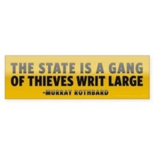 Rothbard on Government Bumper Sticker