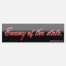 Enemy of the State Bumper Bumper Sticker