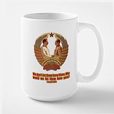 Genocidal Tyrants Agree on Gu Large Mug