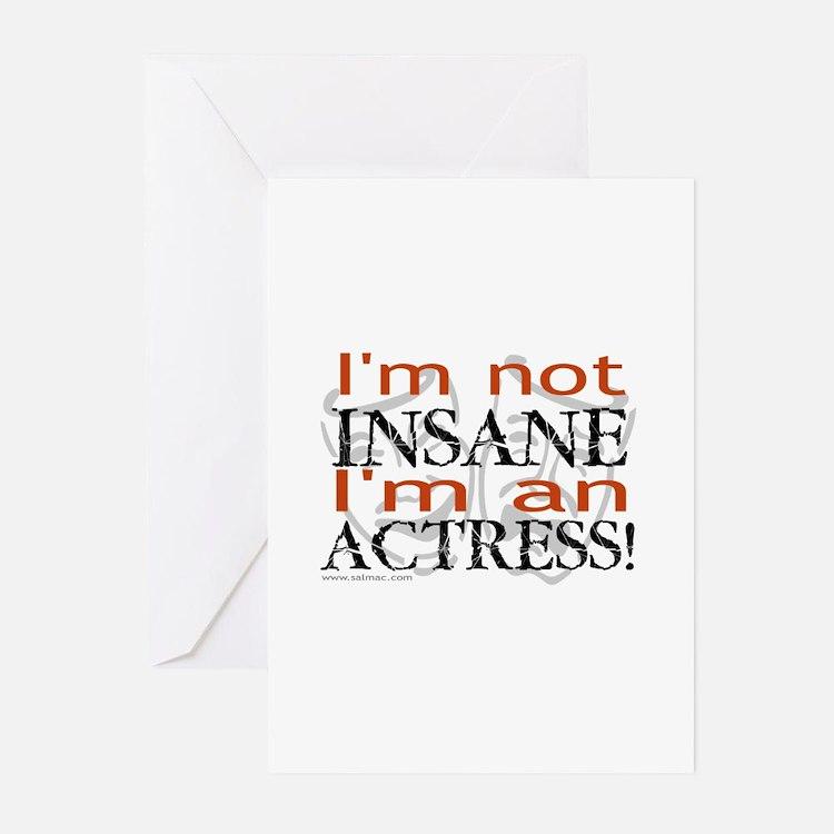 Insane actress Greeting Cards (Pk of 10)