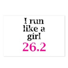 Run Like a Girl 26.2 Postcards (Package of 8)