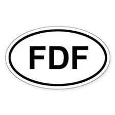 Fort-de-France, Martinique FDF Decal