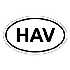 Havana, Cuba HAV Sticker (Oval)