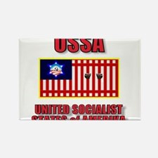 UNITED SOCIALIST STATES of AM Rectangle Magnet