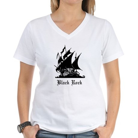 LOST Black Rock Women's V-Neck T-Shirt