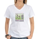 Parental Alienation Women's V-Neck Front/Back Logo