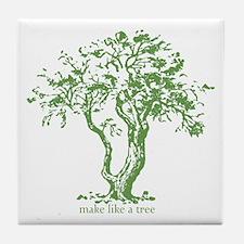 Make Like a Tree Tile Coaster