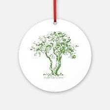 Make Like a Tree Ornament (Round)