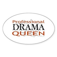 Professional Drama Queen Oval Decal