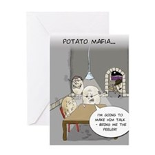 Potato Mafia Funny Greeting Card
