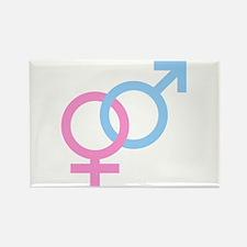Male & Female Symbols Rectangle Magnet
