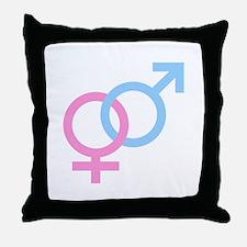 Male & Female Symbols Throw Pillow