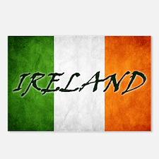 """IRELAND"" on Irish Flag Postcards (Package of 8)"