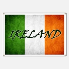 """""""IRELAND"""" on Irish Flag Banner"""