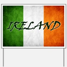 """IRELAND"" on Irish Flag Yard Sign"